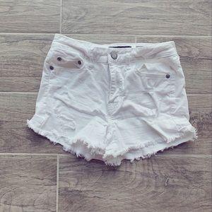 Aeropostale white denim shorts